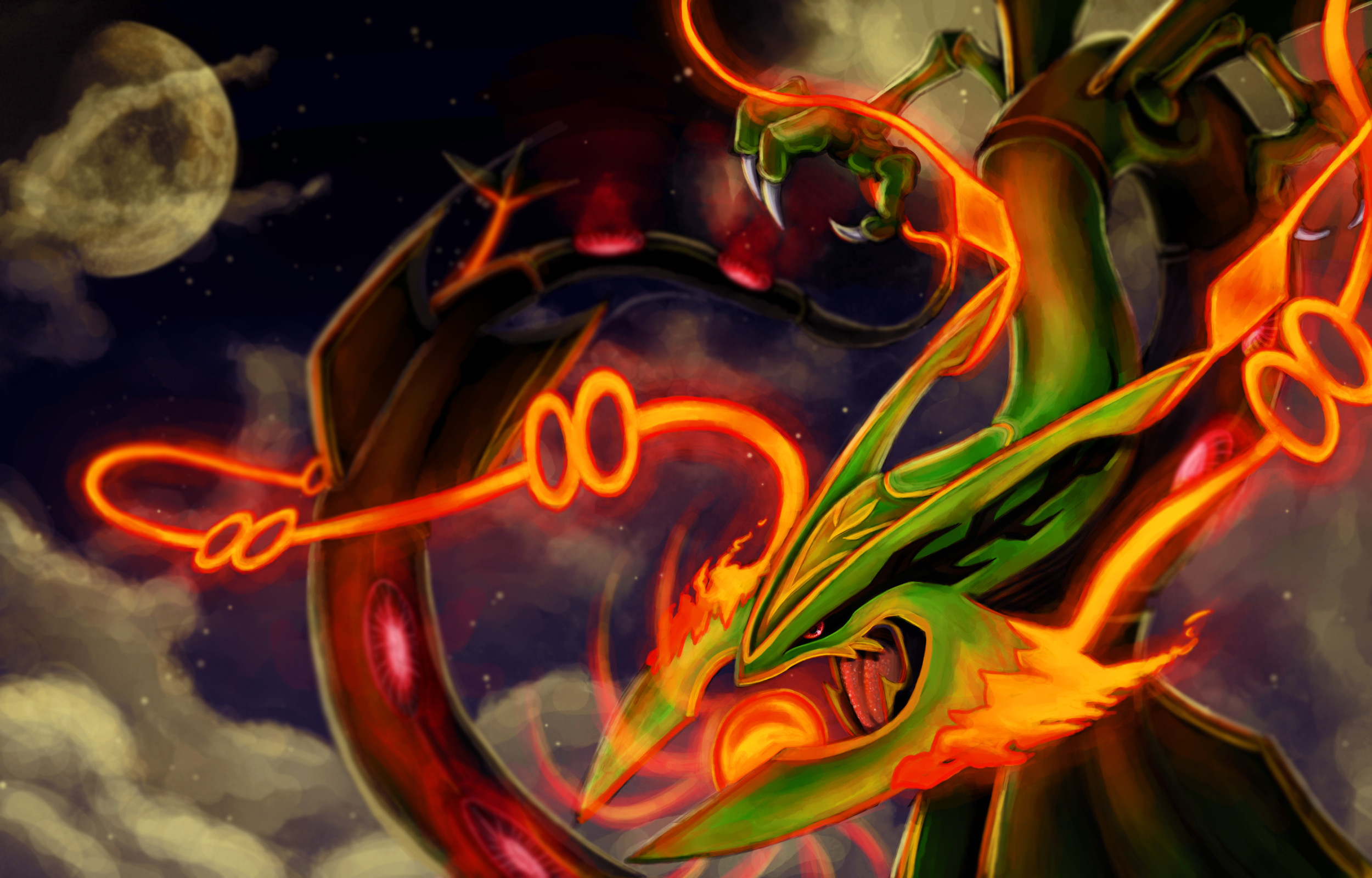 Res: 2500x1600, Mega RAYQUAZA! by Chenks-R