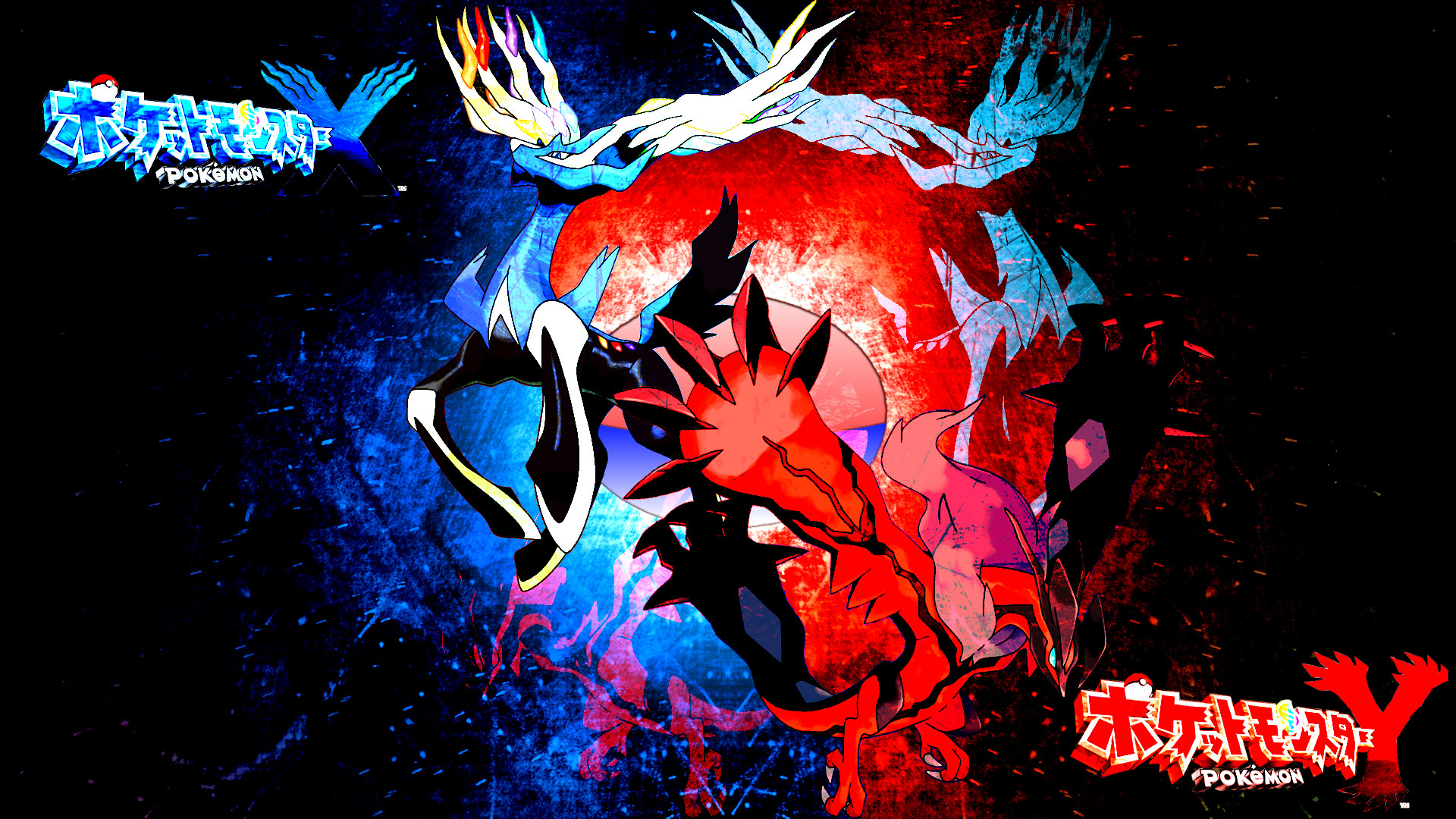 Res: 1920x1080, ... Pokemon X and Y: Xerneas and Yveltal by FRUITYNITE