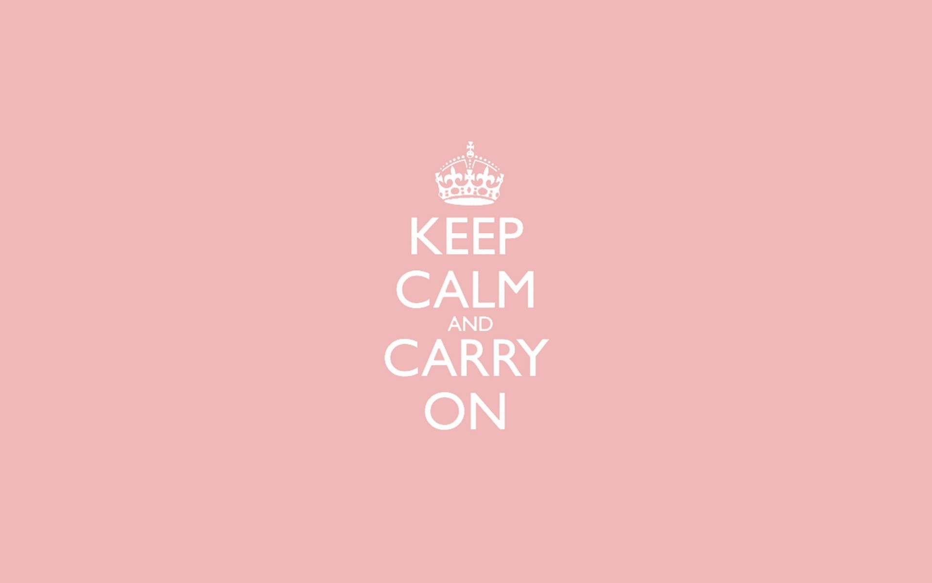 Res: 1920x1200, Light Pink Keep Calm and Carry On Wallpaper 7355