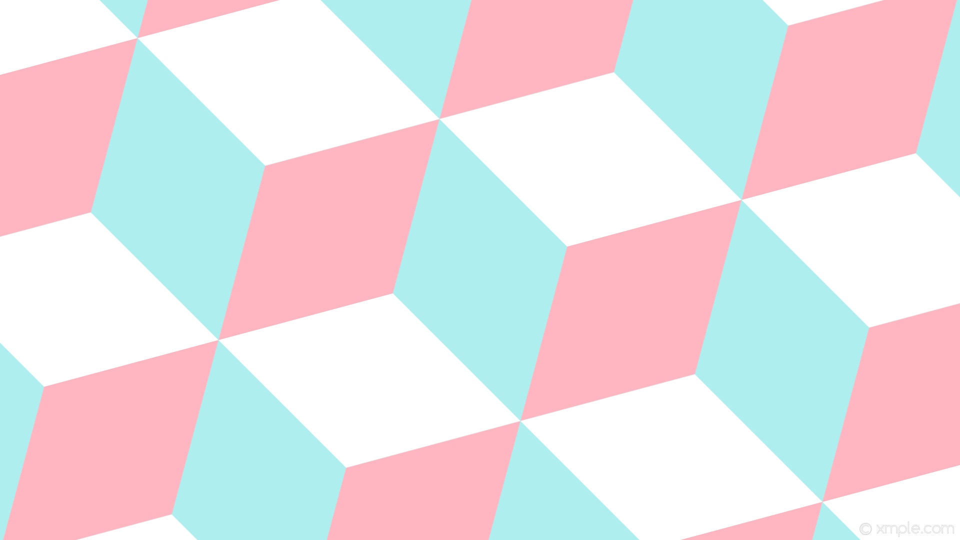 Res: 1920x1080, wallpaper 3d cubes blue white pink pale turquoise light pink #afeeee  #ffb6c1 #ffffff