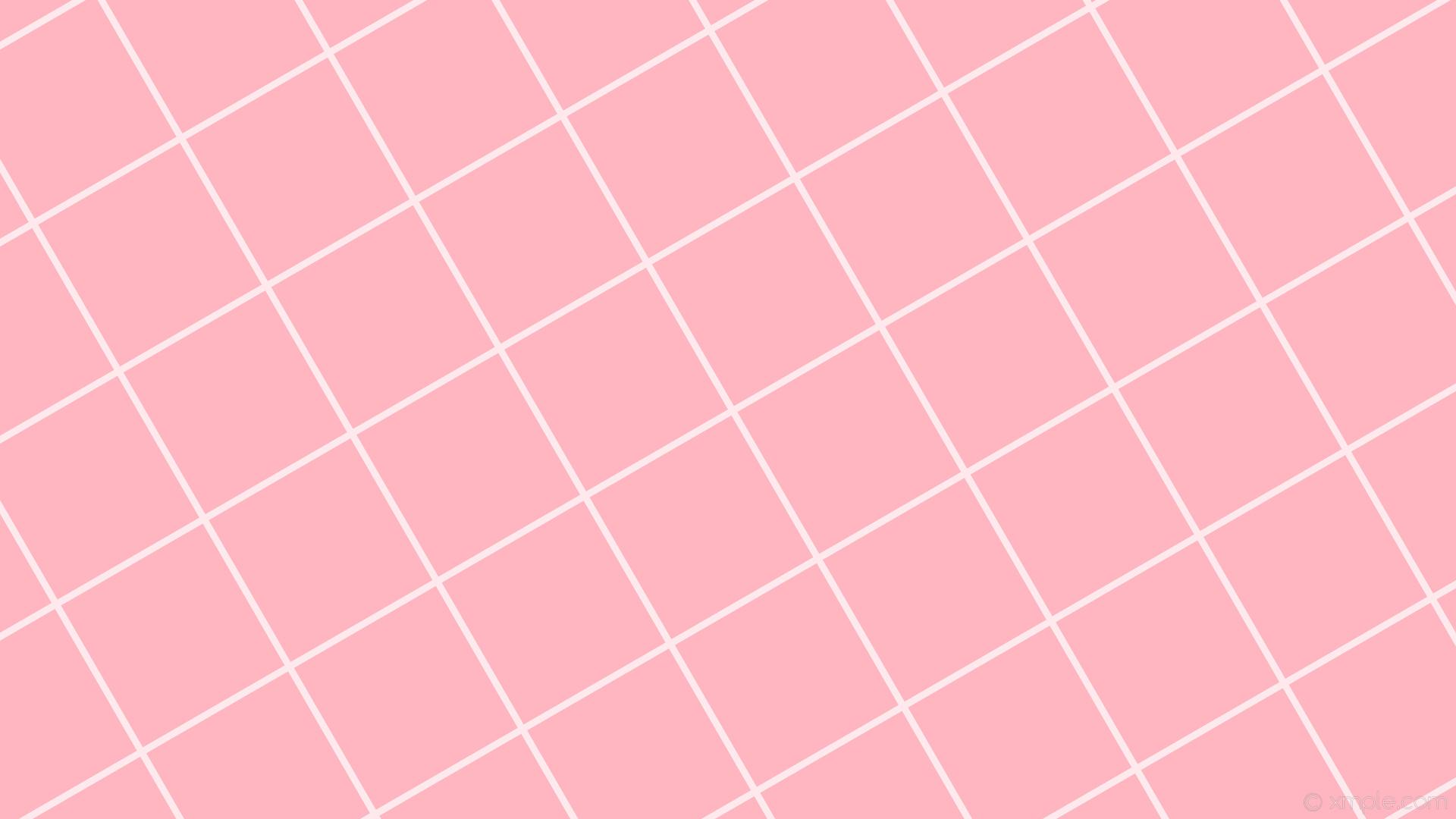 Res: 1920x1080, wallpaper white pink graph paper grid light pink #ffb6c1 #ffffff 30° 9px  225px