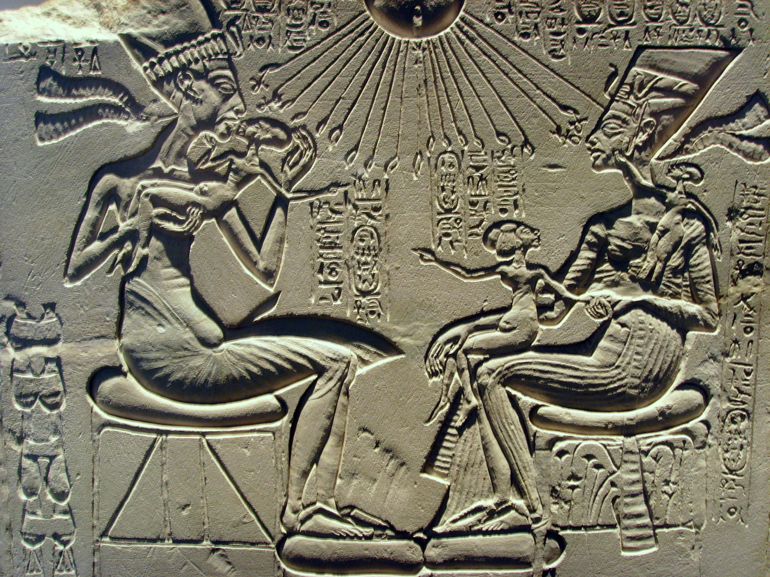 Res: 2560x1920, Ancient Aliens images akhenaten_nefertiti_and_their_children HD wallpaper  and background photos