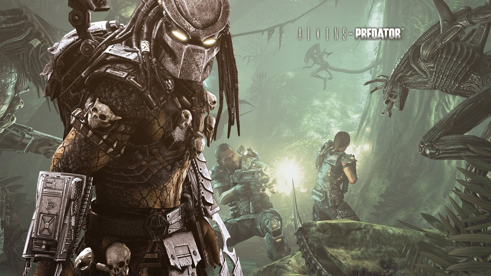 Res: 1920x1080, Wallpaper of Alien vs Predator in high definition - AVP on Earth