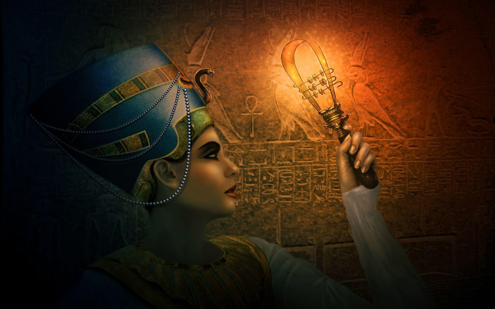Res: 1920x1200, Artistic Cleopatra Wallpaper