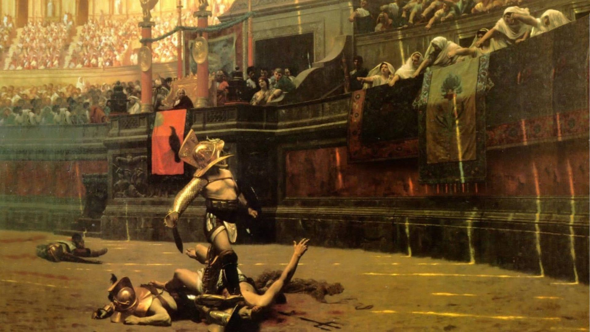 Res: 1920x1080, Artistic Painting Rome Arena Gladiator Artistic Wallpaper