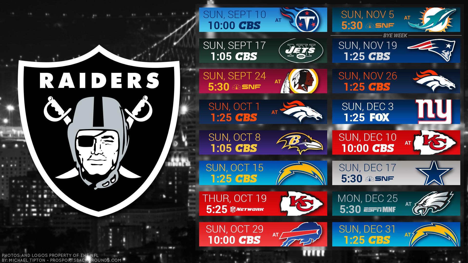 Res: 1920x1080, Oakland Raiders 2017 schedule city football logo wallpaper free pc desktop  computer ...