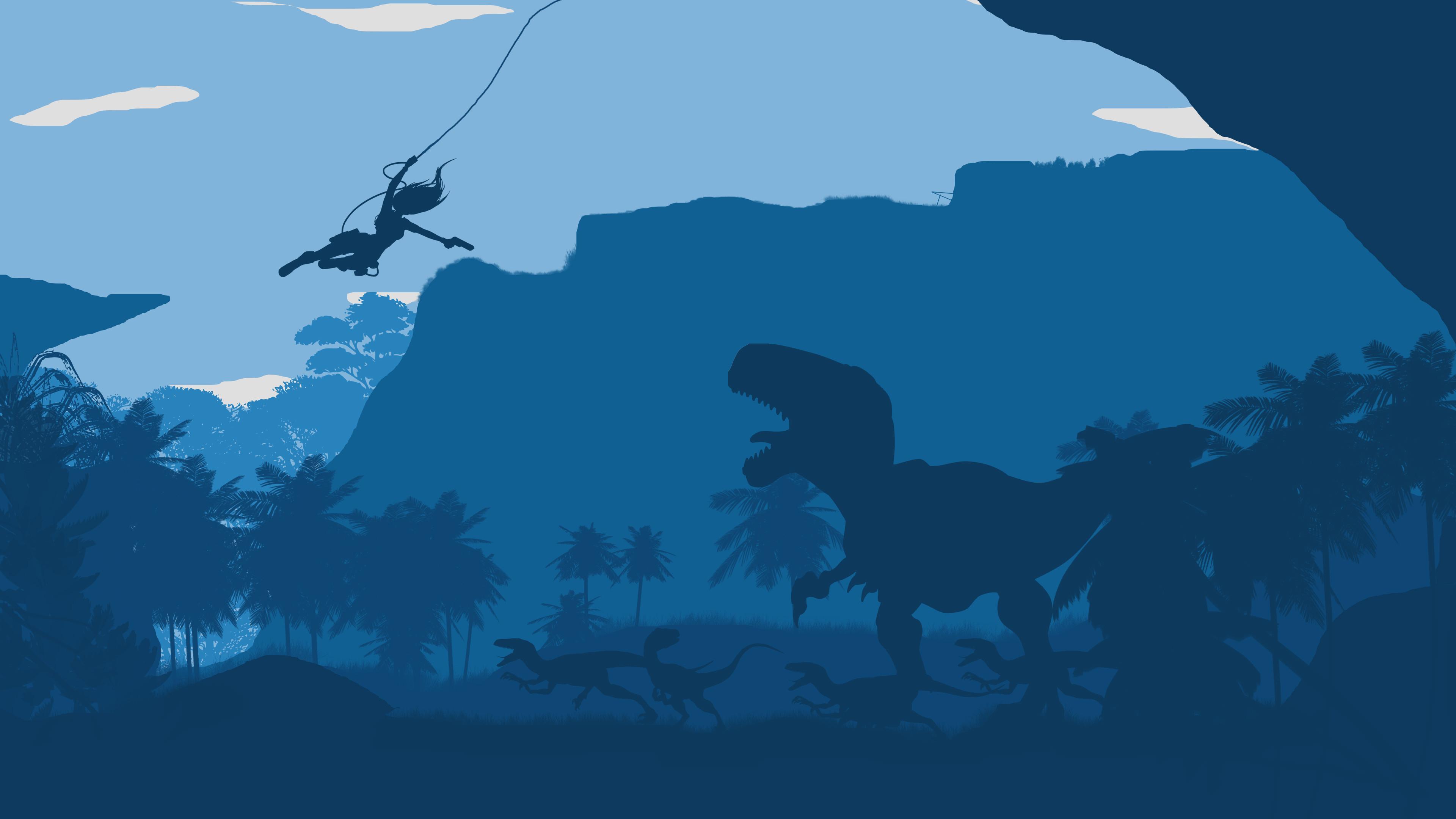 Res: 3840x2160, Tomb Raider Dinosaur 4K Wallpaper