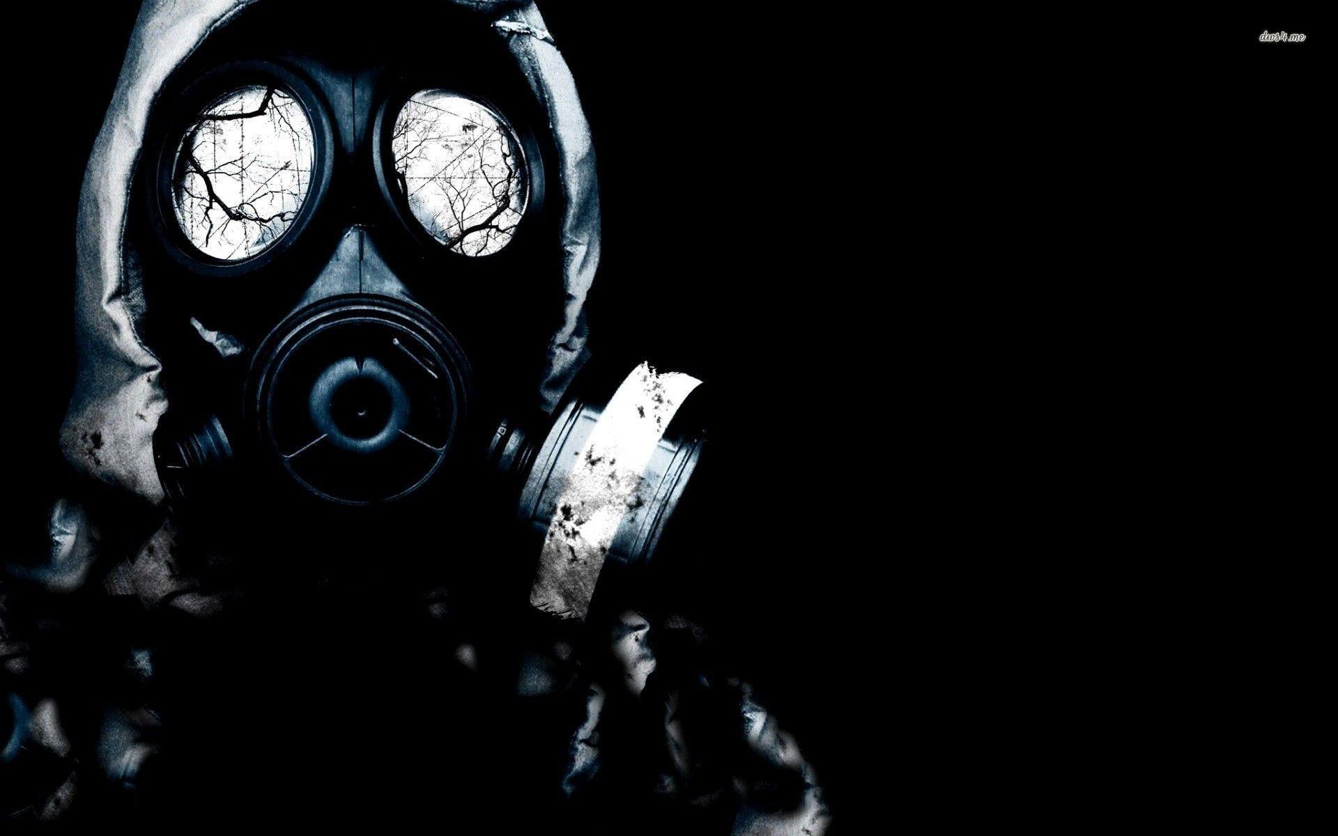 Res: 1920x1200, ... Creepy gas mask wallpaper  ...