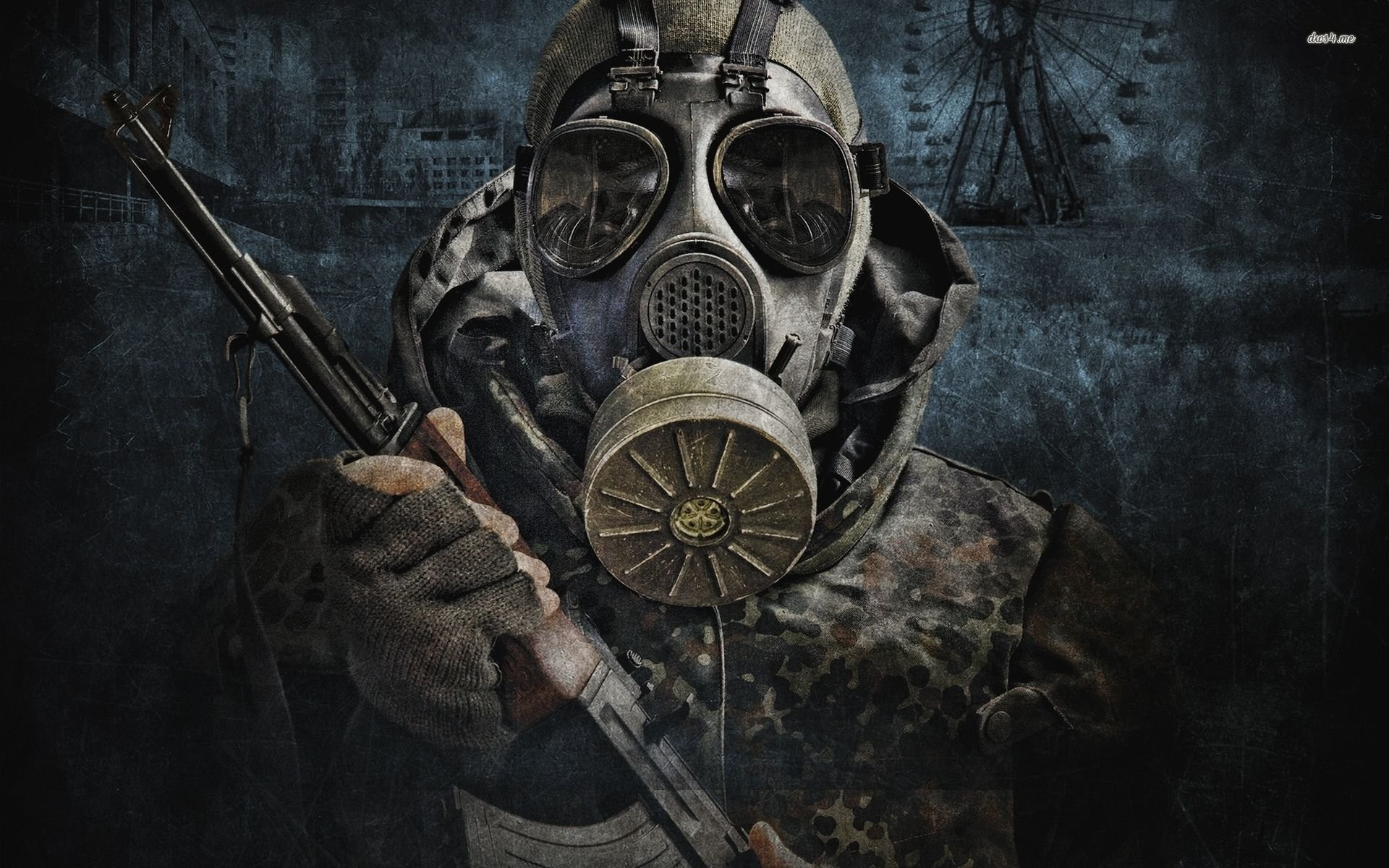 Res: 1920x1200, gas masked soldier