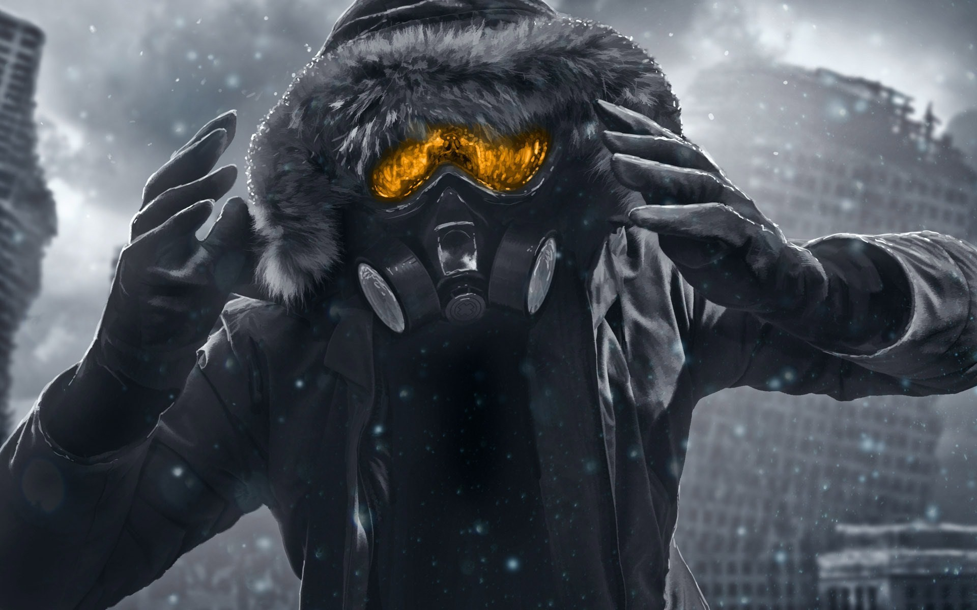 Res: 1920x1200, trap music wallpaper #588820. Romantically Apocalyptic Gas Mask ...