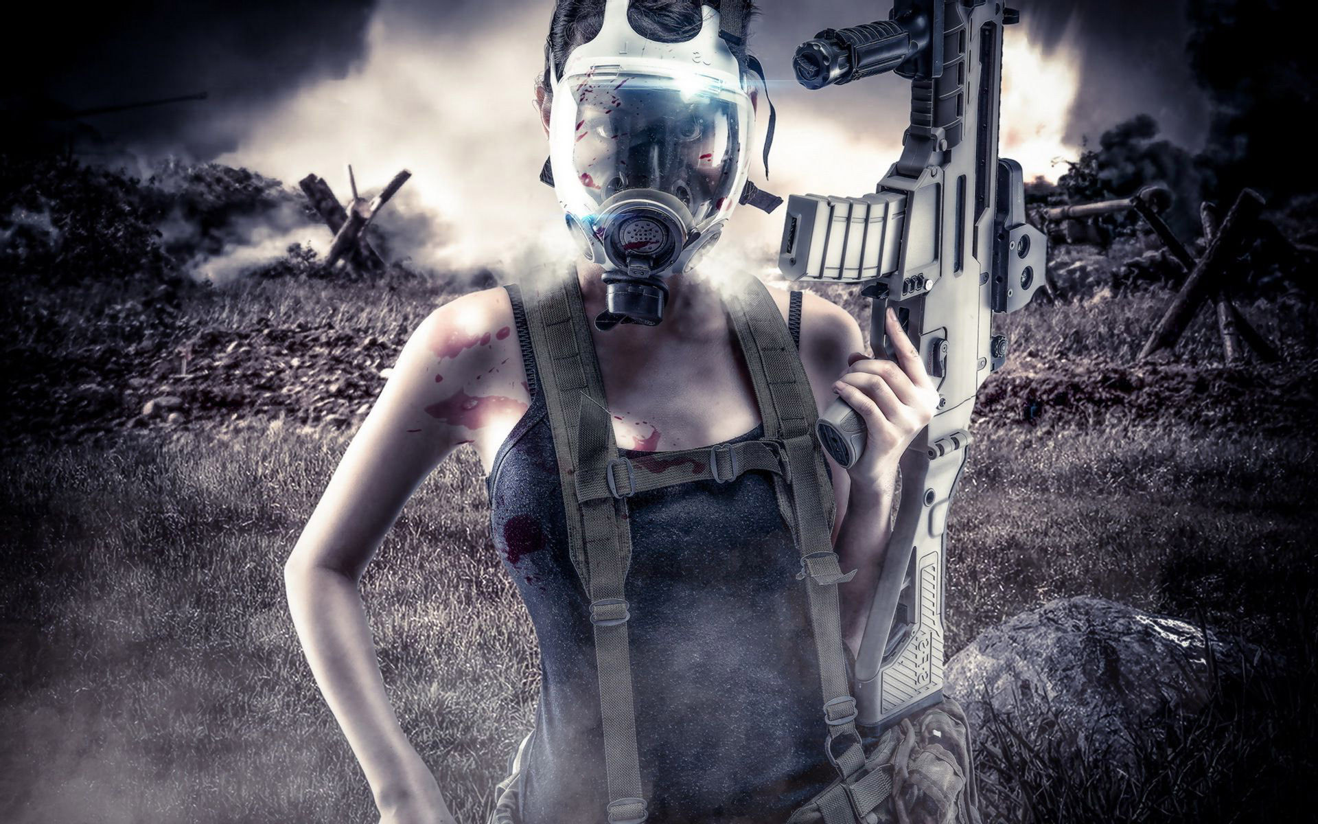 Res: 1920x1200, Gas Mask Wallpapers (82 Wallpapers) - HD Wallpapers