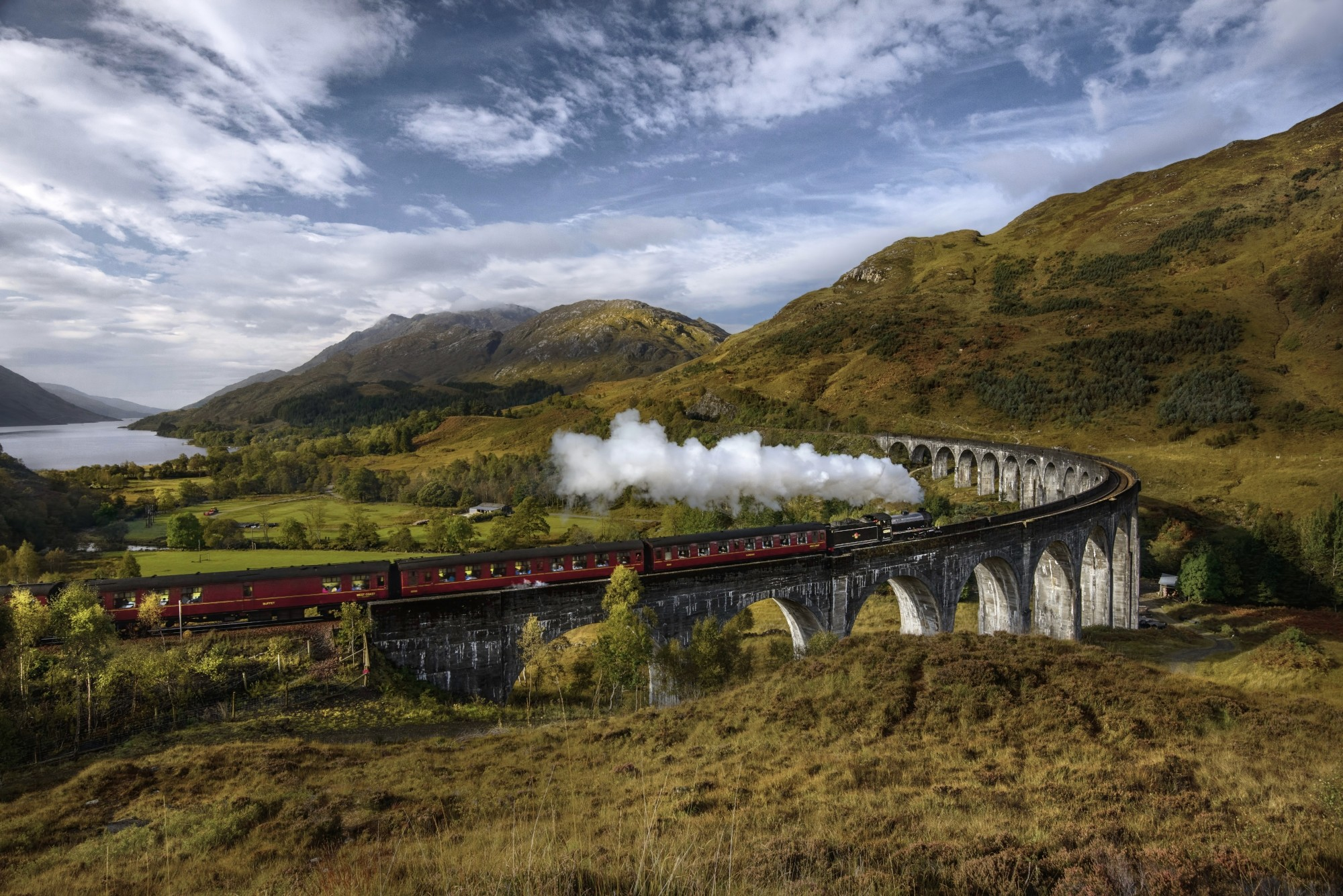 Res: 2000x1335, This is the Jacobite train, better known to moviegoers as the Hogwarts  Express.