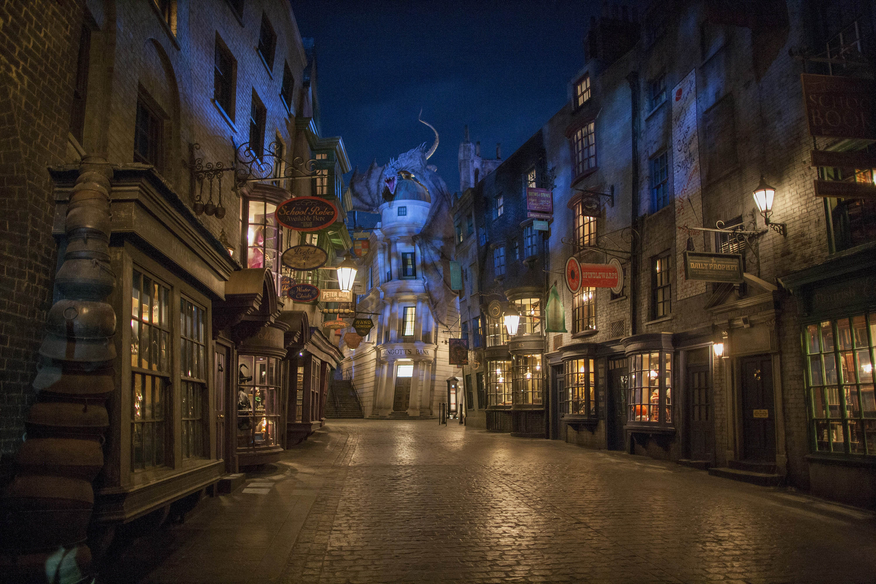 "Res: 3000x2000, ""The Wizarding World of Harry Potter,"" located in the Universal Studios  Florida theme"