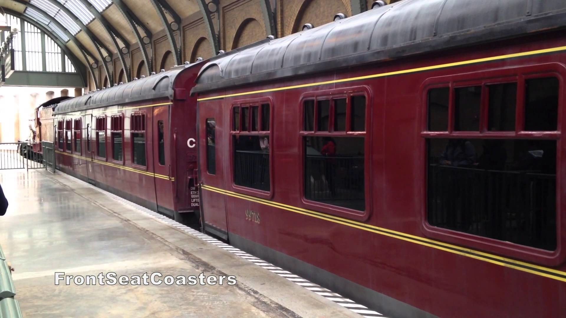 Res: 1920x1080, Hogwarts Express Wizarding World of Harry Potter - Train Pulls Into KIng's  Cross Station Orlando - YouTube