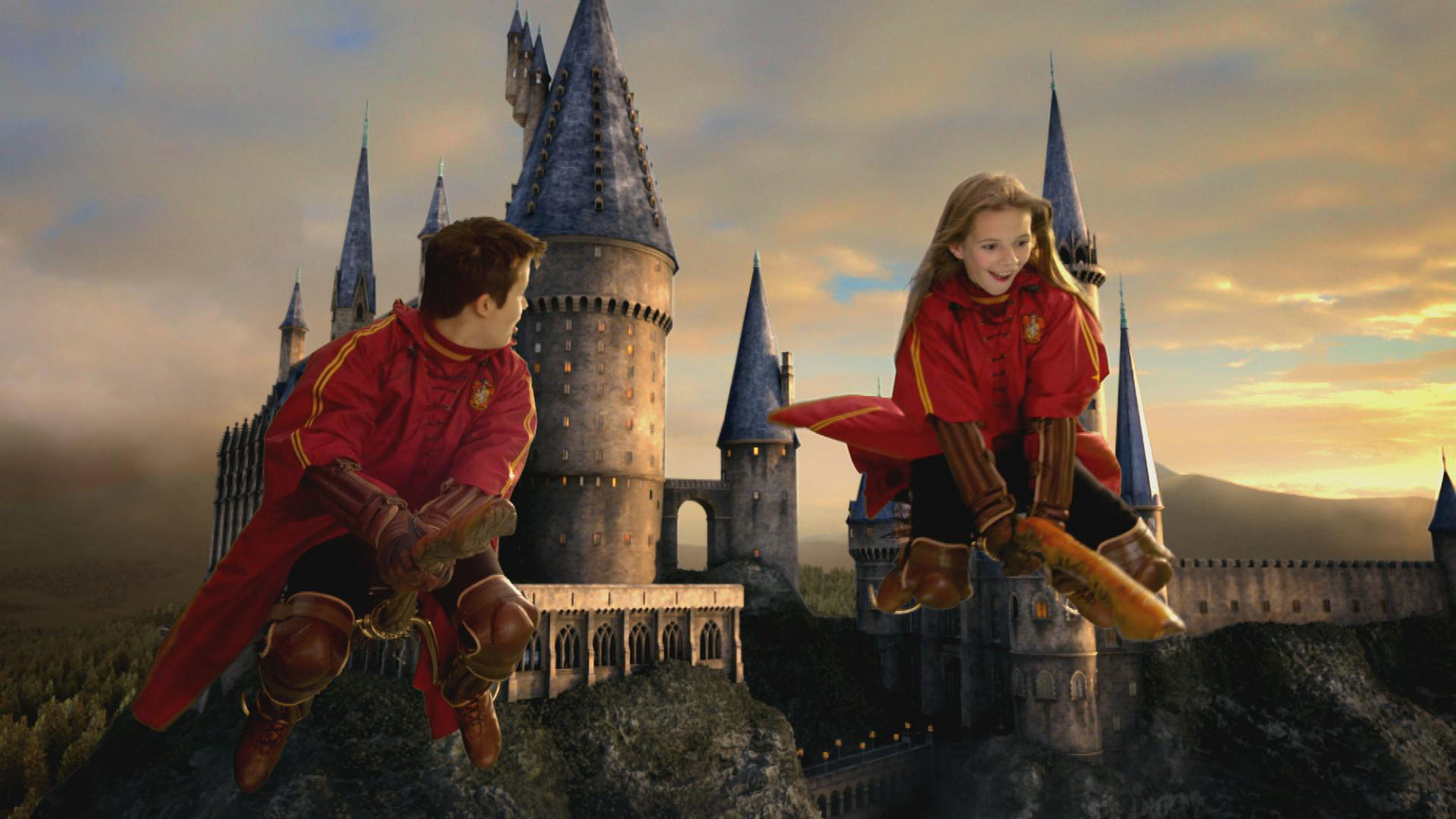 Res: 3003x1689, Flying by Broomstick wallpaper - Click picture for high resolution HD  wallpaper