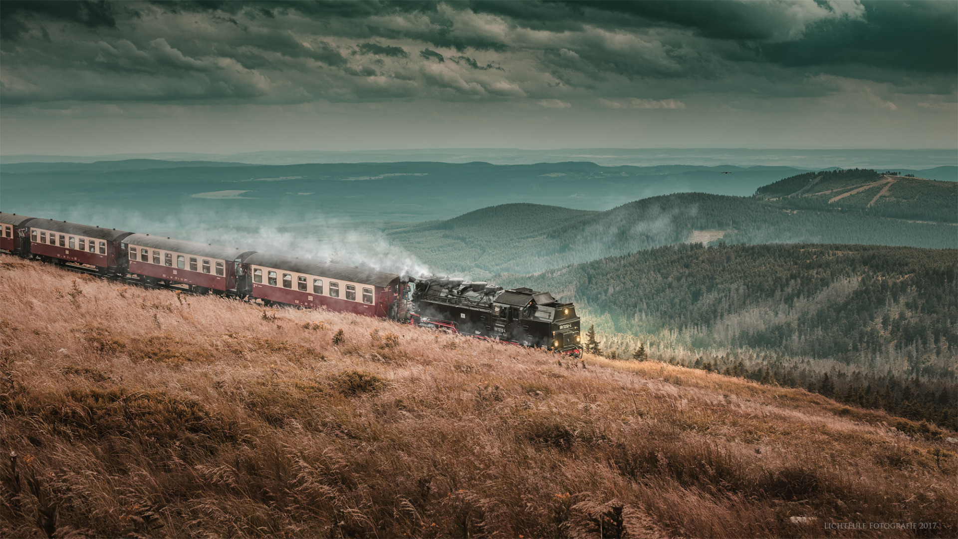 Res: 1920x1080, Hogwarts Express am Brocken::.
