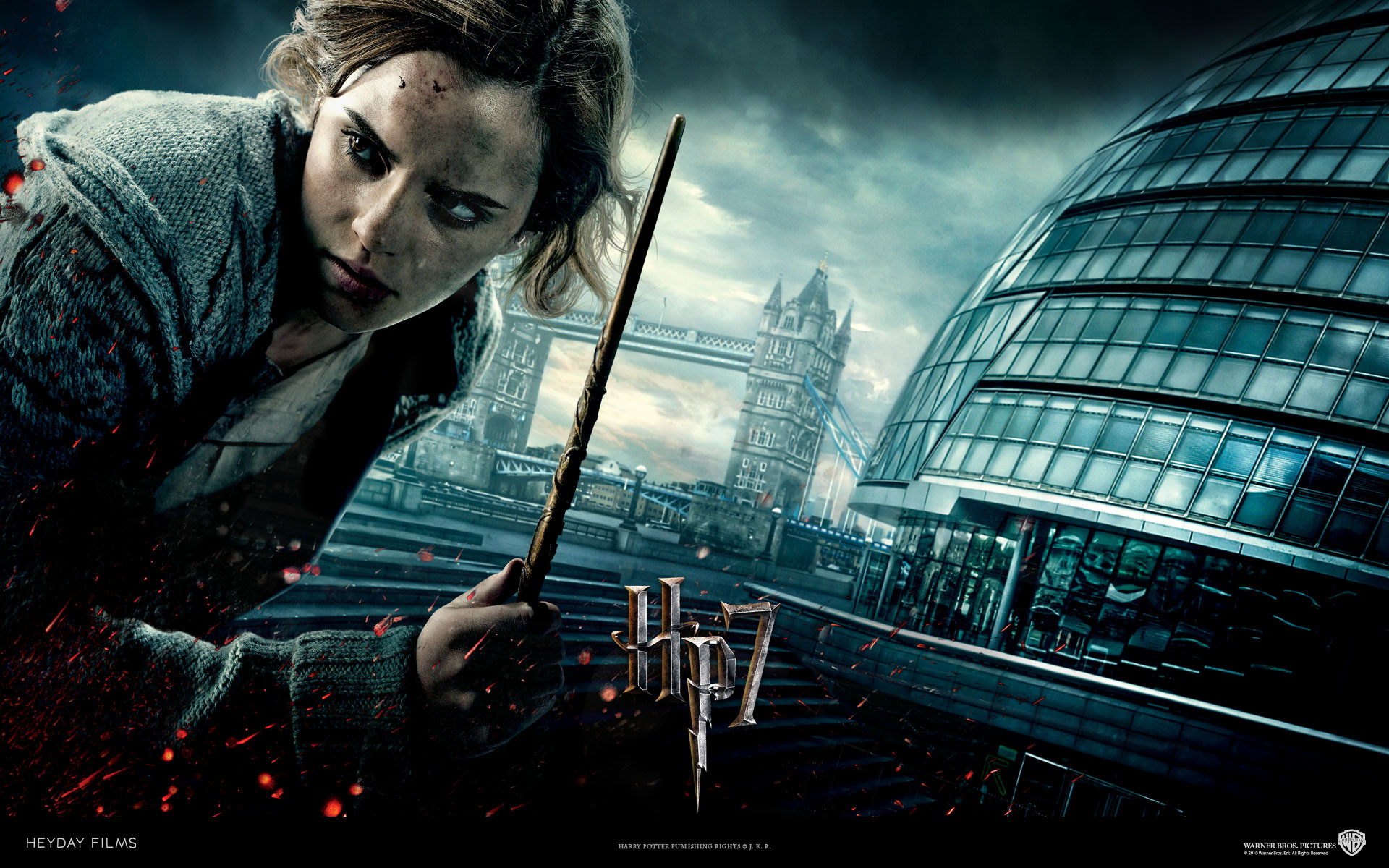 Res: 1920x1200, Hermione Granger from Harry Potter and the Deathly Hallows movie wallpaper