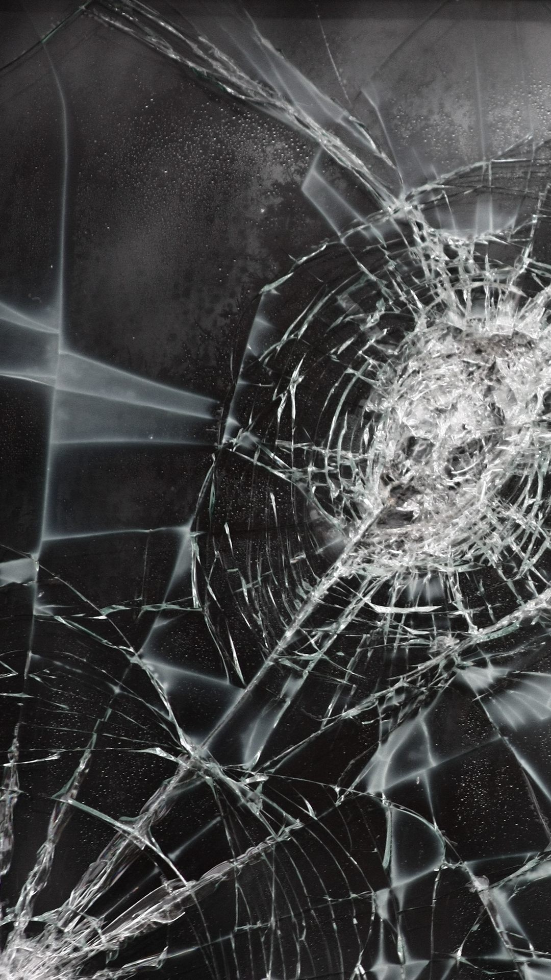 Res: 1080x1920, Cracked Screen Background for Android Free Download.