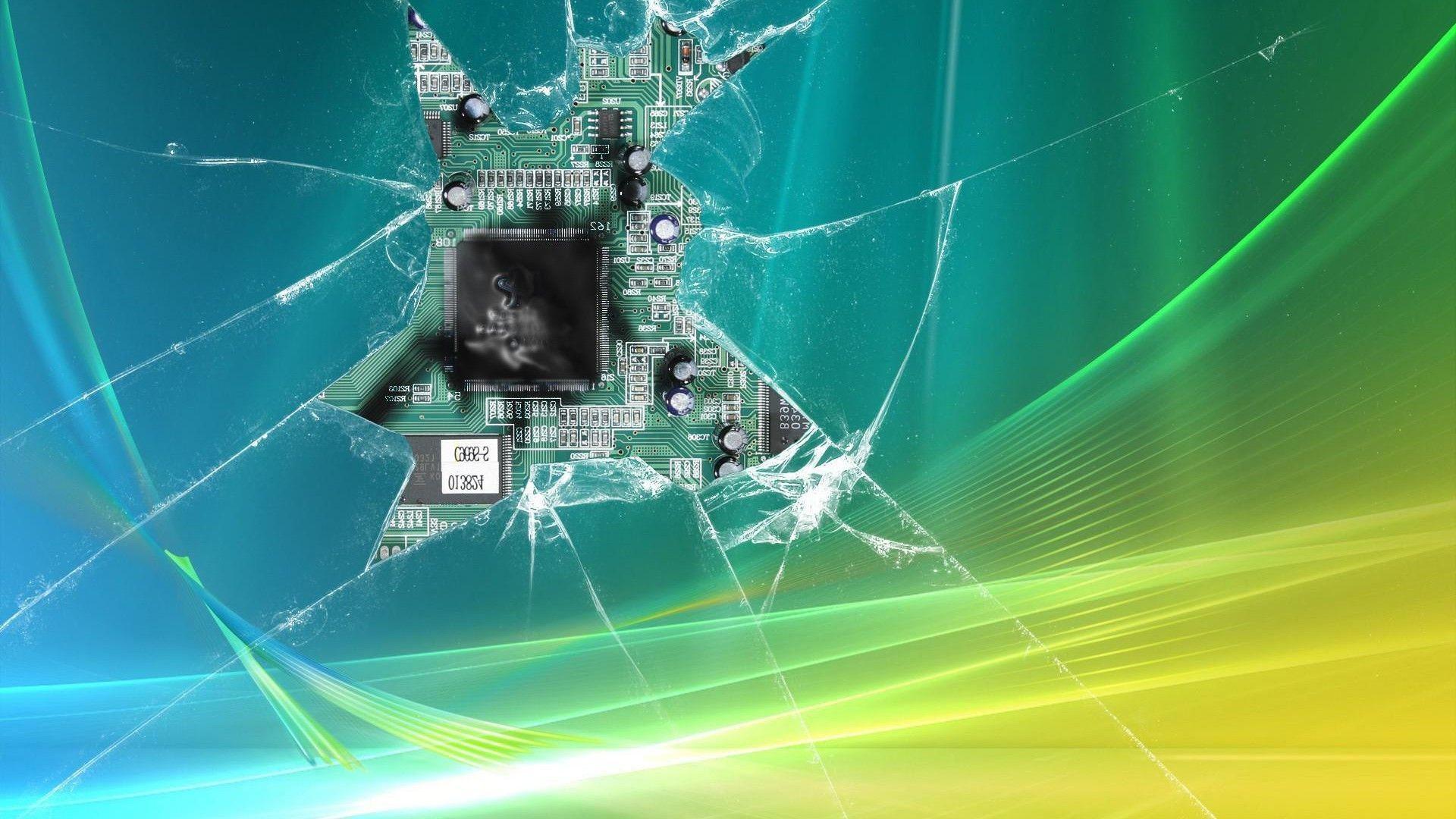 Res: 1920x1080, Broken Screen Wallpaper