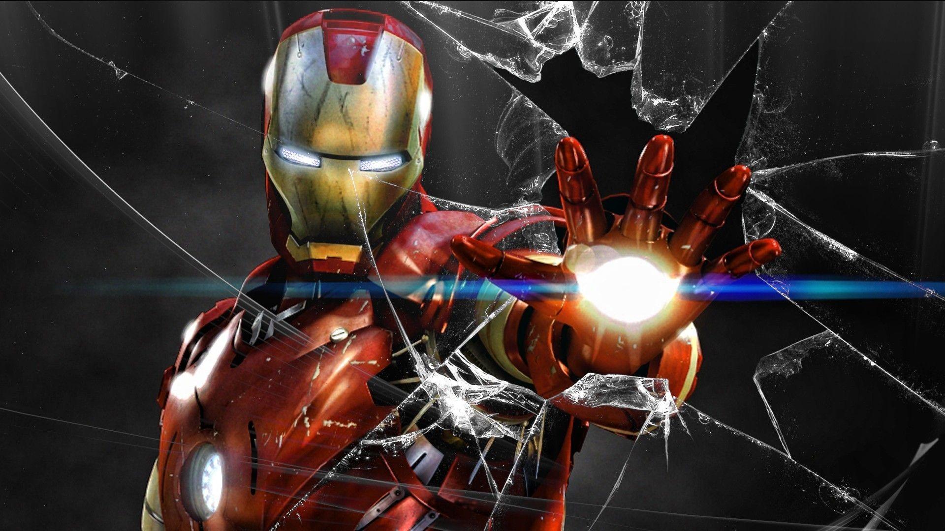Res: 1920x1080, Iron Man Broken Screen Wallpaper - Best Wallpaper HD
