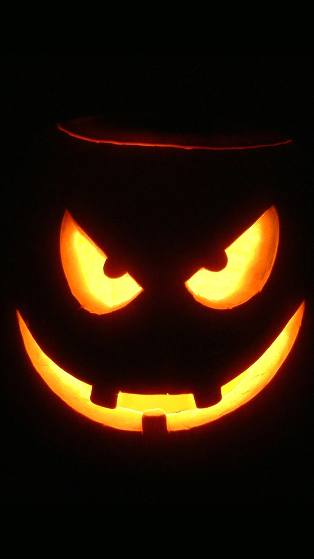 Res: 1080x1920, Evil Pumpkin Glowing Halloween Android Wallpaper ...
