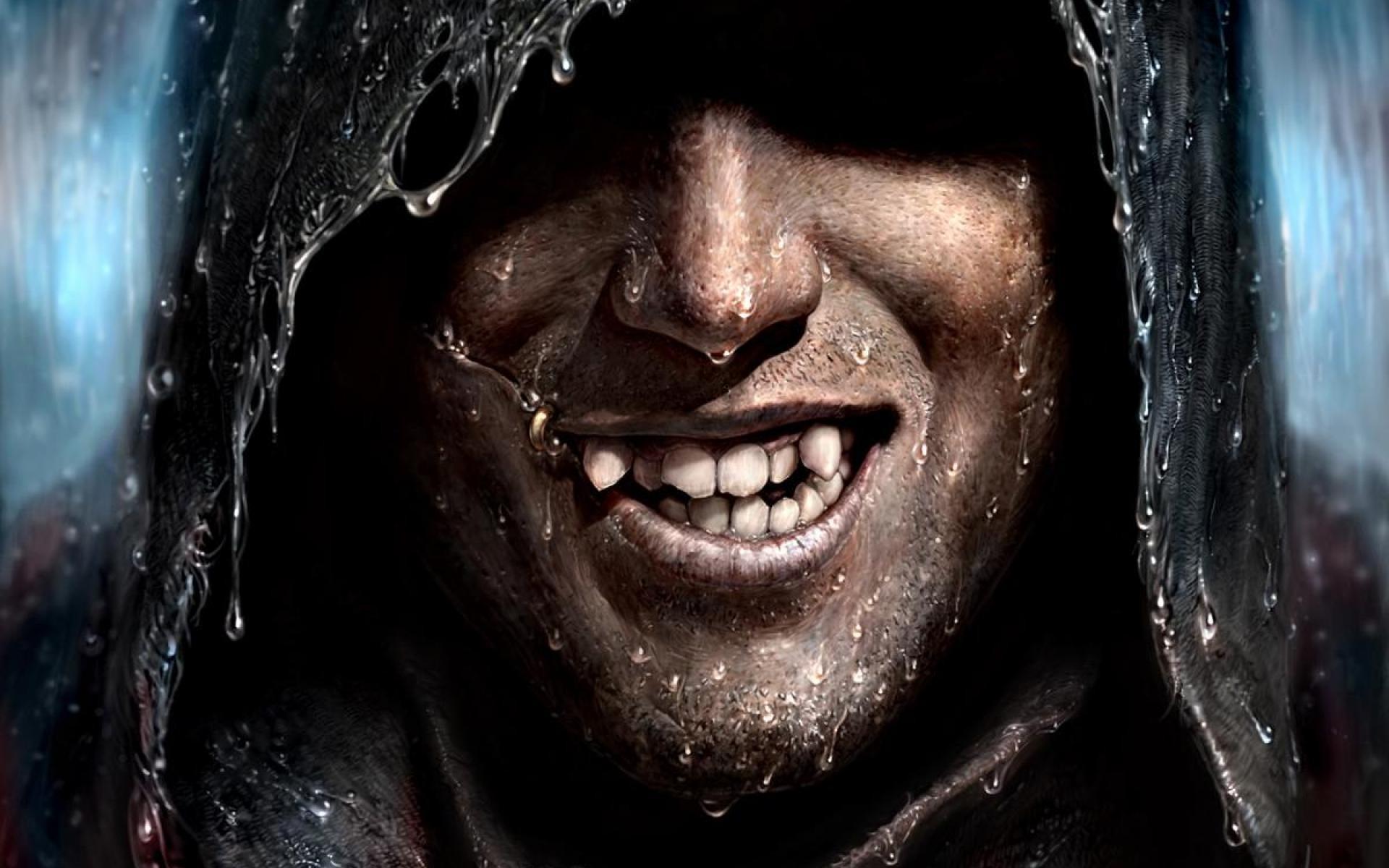 Res: 1920x1200, Vampire-man-spooky-rain-storm-creepy-canine-teeth-evil-smile-.jpg