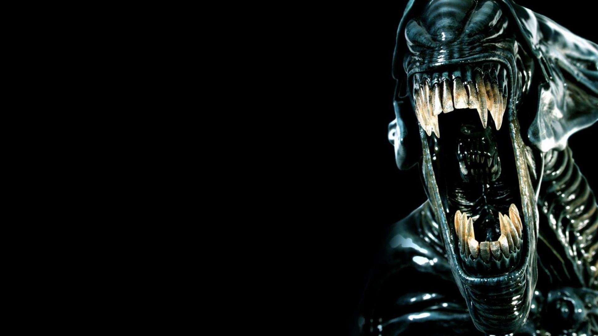 Res: 1920x1080, Download Wallpaper  alien, teeth, horror, fear, killer, evil Full  HD 1080p HD Background