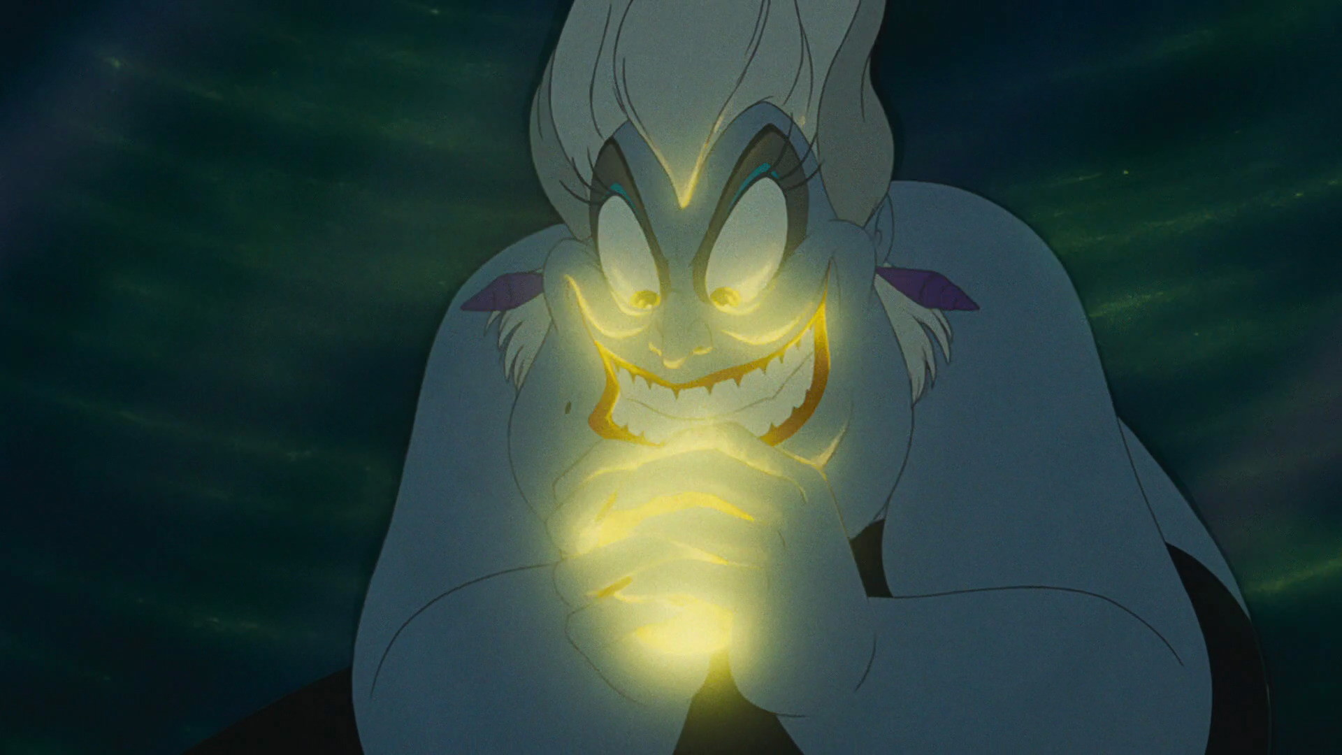 Res: 1920x1080, The Little Mermaid - Poor Unfortunate Souls - Ursula's Evil Smile with a  Glow.jpg