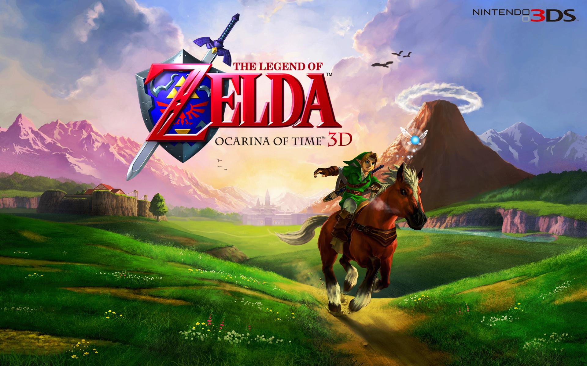 Res: 1920x1200, Zelda Ocarina Of Time 3DS Wallpaper