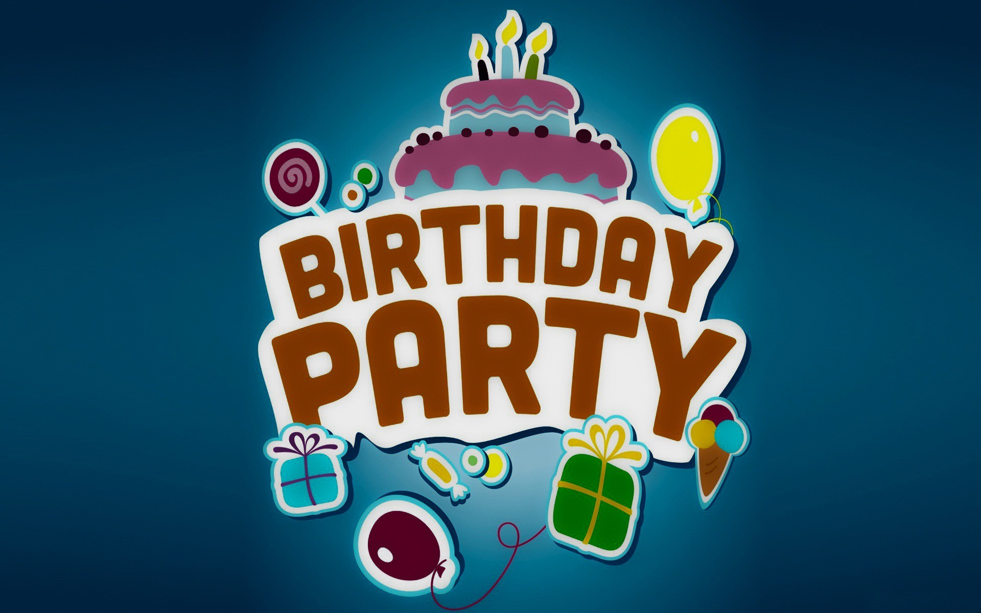Res: 1920x1200, Birthday Party Vector