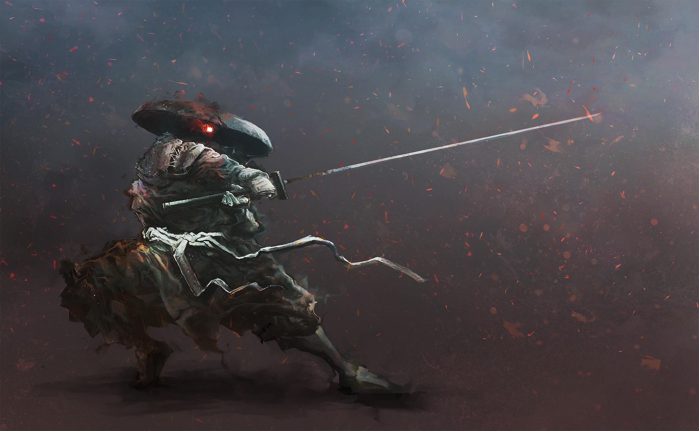 Res: 2432x1500, HD Wallpaper | Hintergrund ID:594668.  Fantasy Samurai