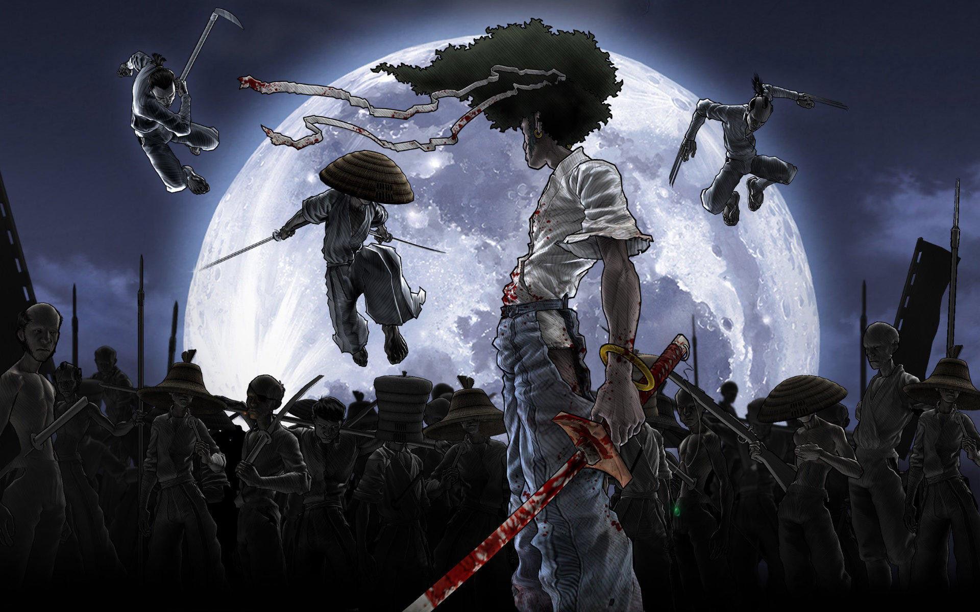 Res: 1920x1200,  Foggy Afro Samurai HD Wallpapers | cartoonwallpapershd.com |  Pinterest | Afro samurai