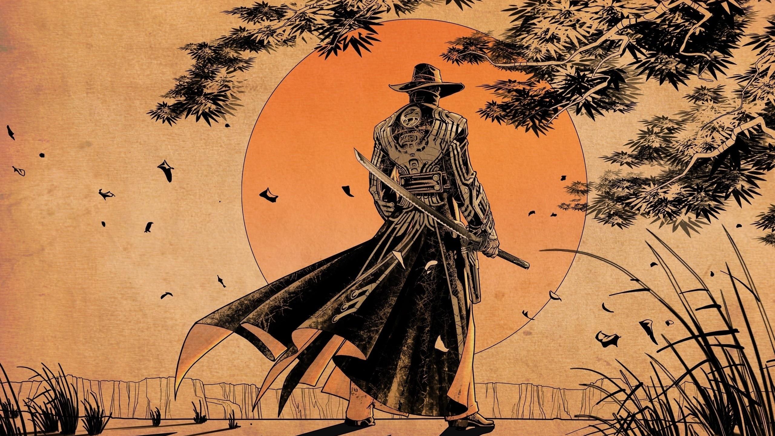Res: 2560x1440, samurai.jpg
