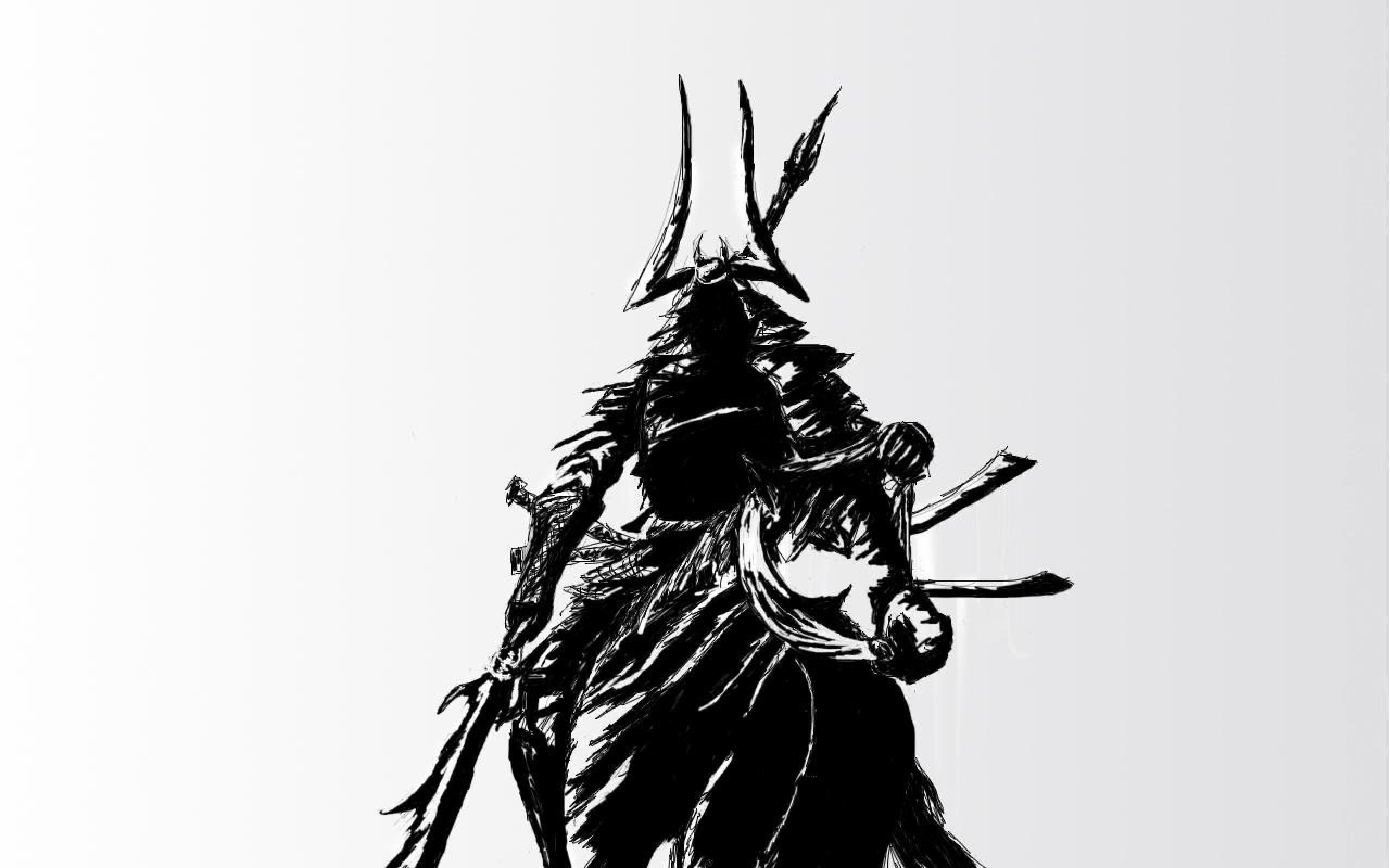 Res: 2560x1600, samurai warrior katana background