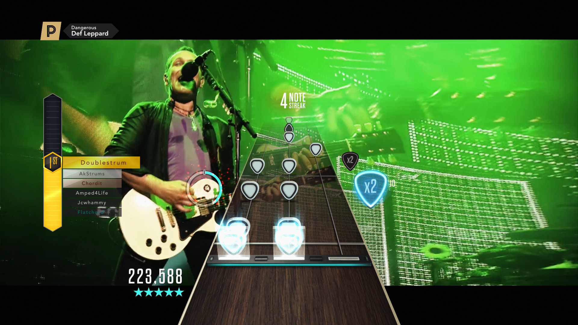 """Res: 1920x1080, Activision announced today that Guitar Hero Live's GHTV will be the first  place in the US and Europe to watch Def Leppard's music video for  """"Dangerous."""