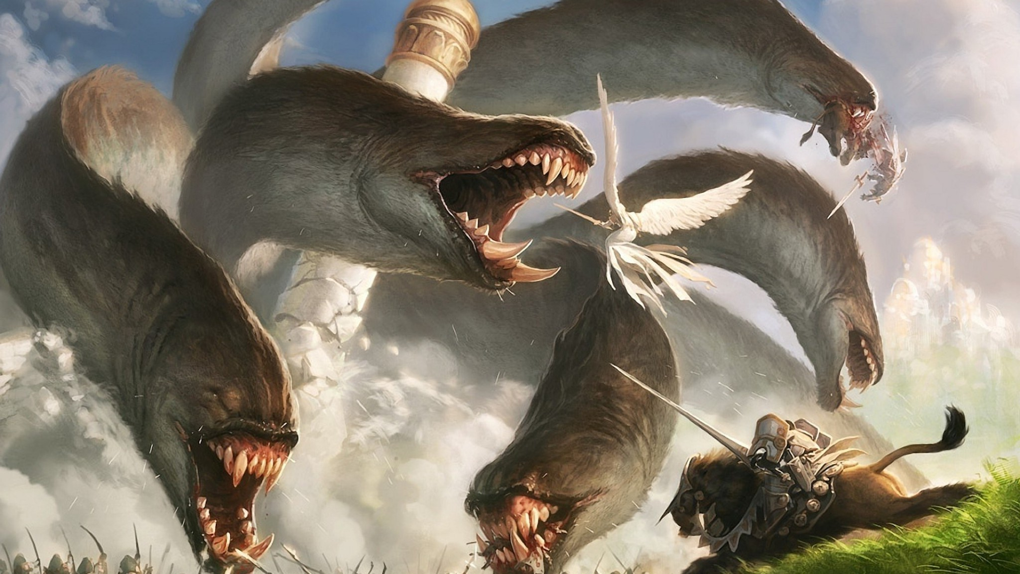 Res: 2048x1152, digital Art, Fantasy Art, Creature, Magic: The Gathering Wallpapers HD /  Desktop and Mobile Backgrounds
