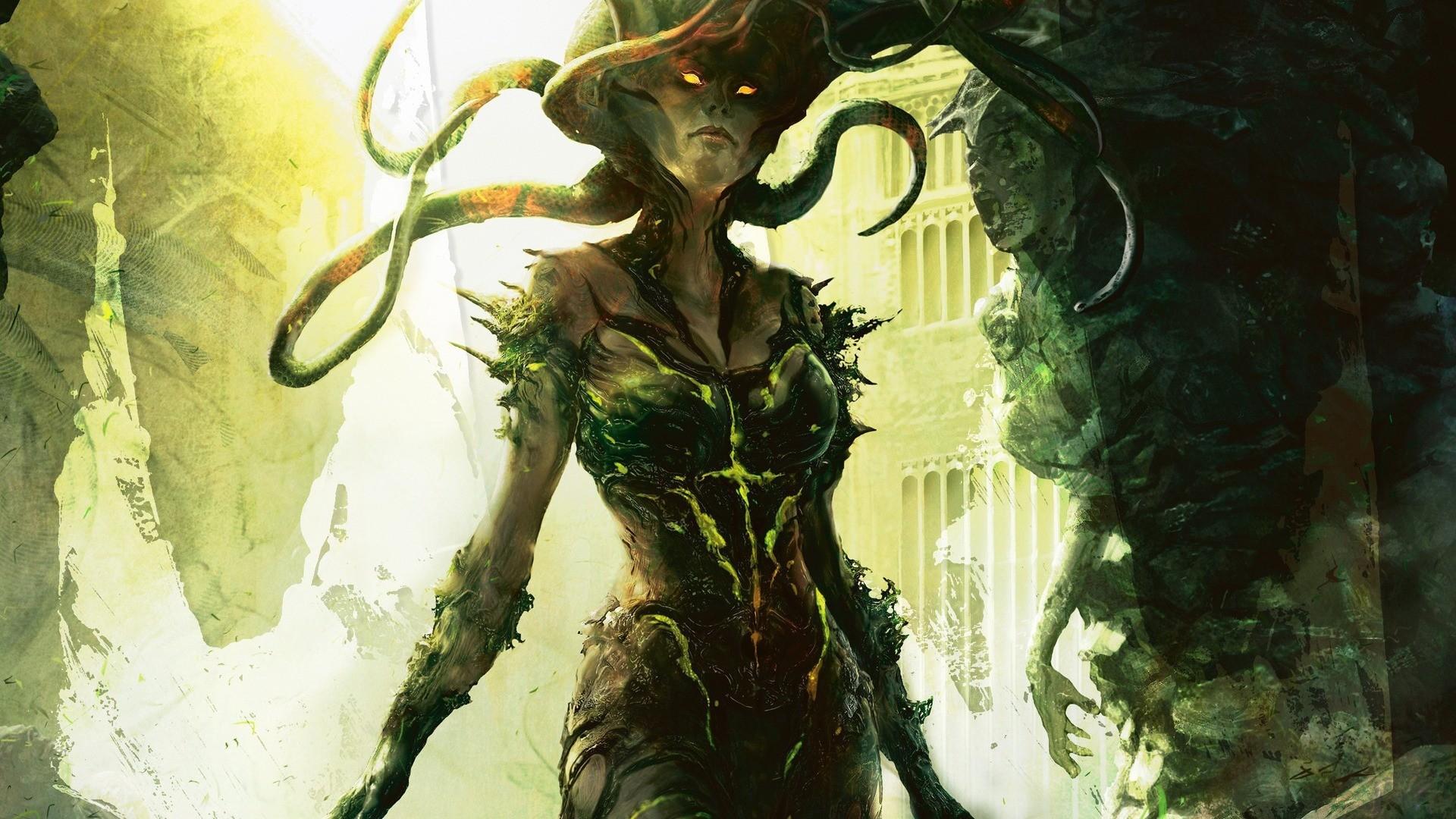 Res: 1920x1080, artwork fantasy art magic the gathering vraska