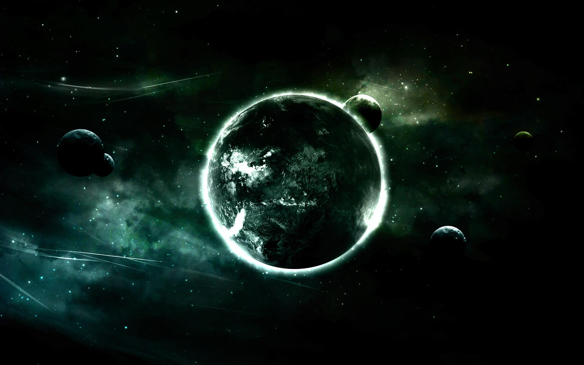 Res: 1920x1200, Dark Green Glow HD Desktop Wallpaper, Background Image