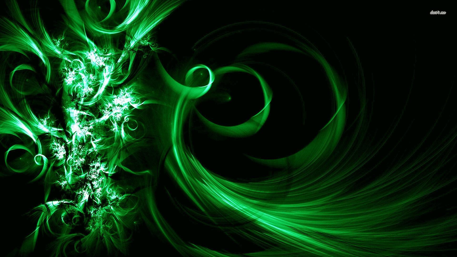 Res: 1920x1080, ... Green vortex wallpaper  ...