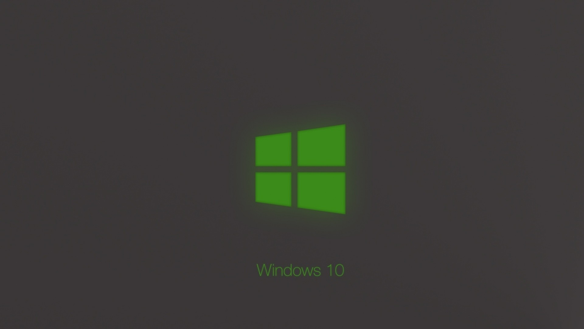 Res: 1920x1080, Windows 10 Technical Preview Green Glow Wallpaper