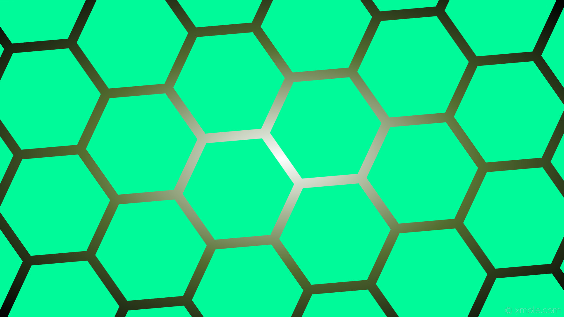 Res: 1920x1080, wallpaper hexagon white black green glow gradient medium spring green dark  olive green #00fa9a #