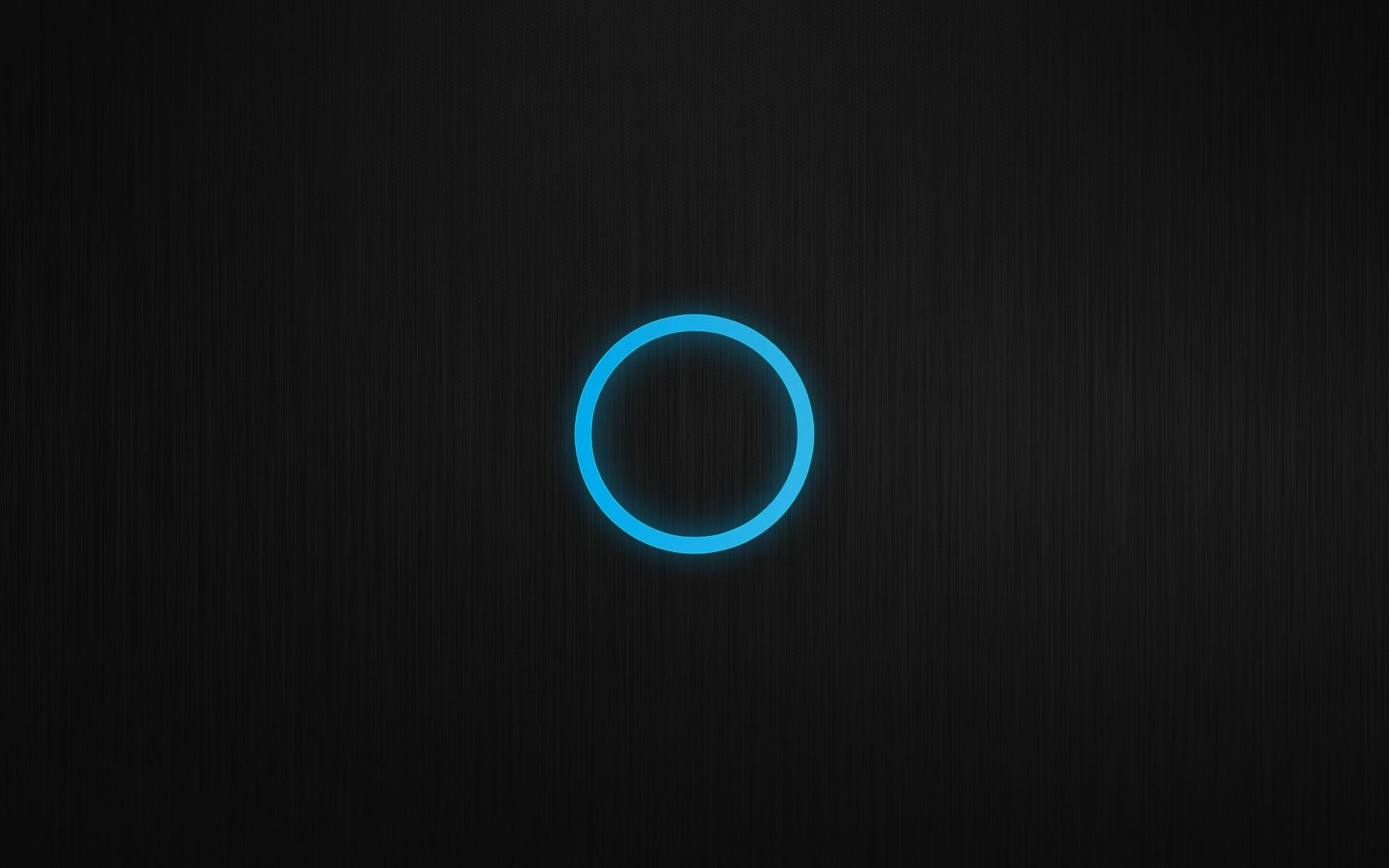 Res: 1920x1200,  Blue black minimalistic patterns circles techno glow wallpaper