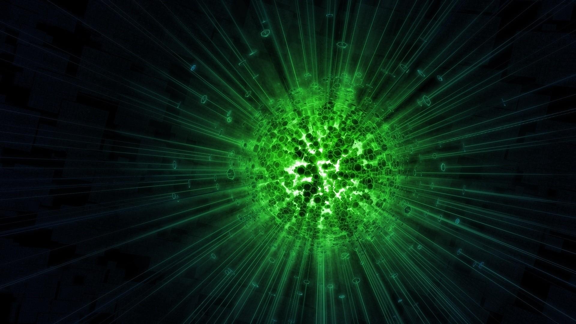 Res: 1920x1080,  Wallpaper ball, shine, light, neon, glow