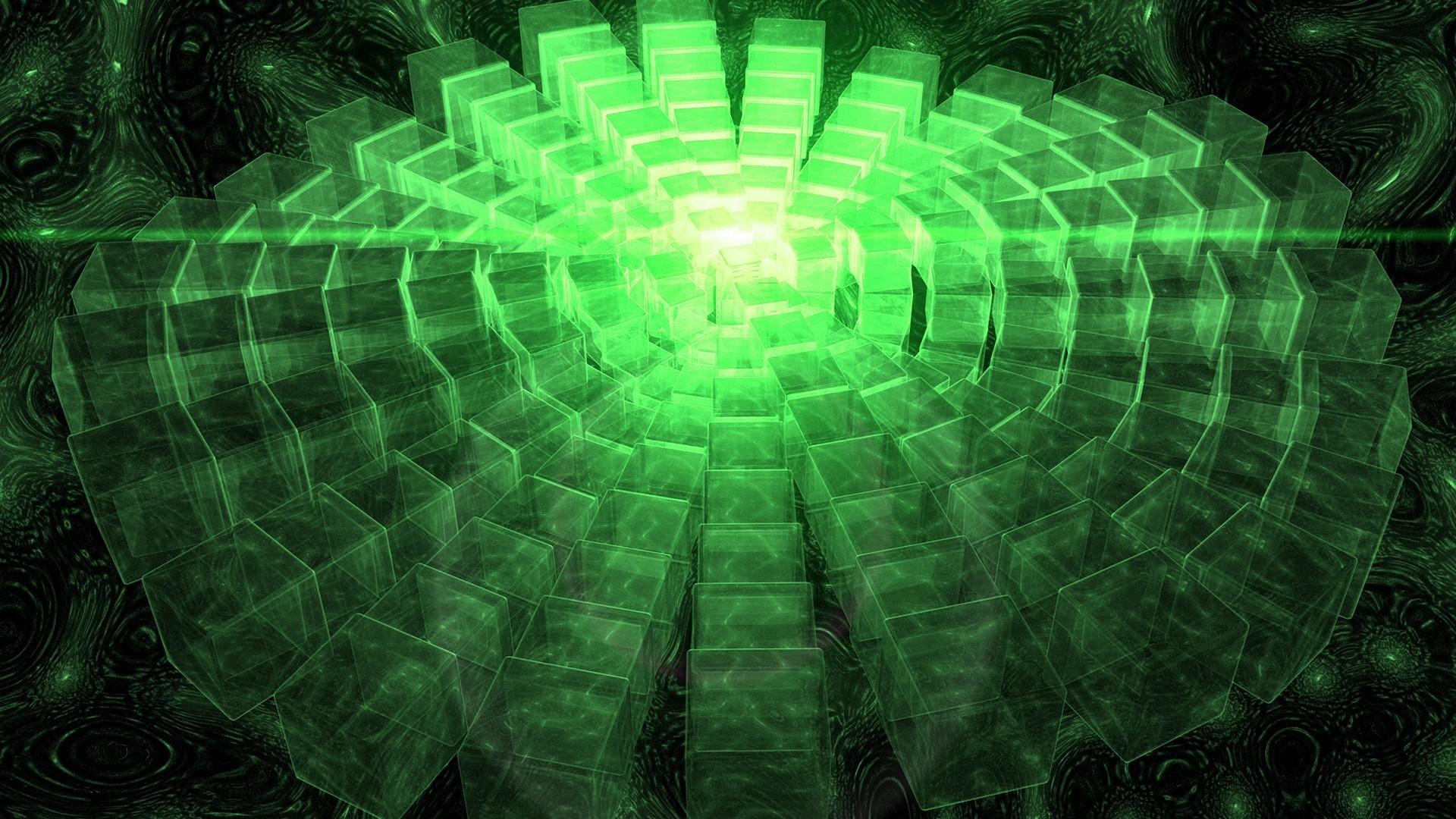 Res: 1920x1080, Abstract outer space CGI cubes digital art glow 3D art wallpaper |   | 200741 | WallpaperUP