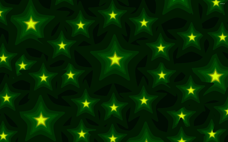 Res: 2880x1800, Glowing green stars wallpaper - Vector wallpapers - #25264