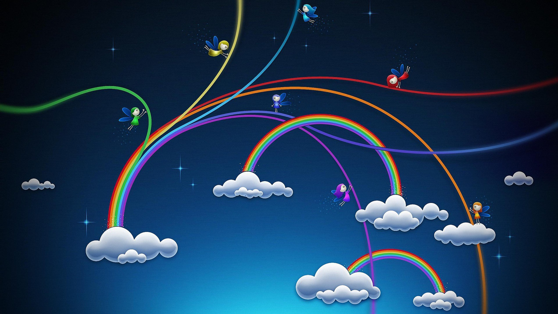 Res: 1920x1080, creative rainbow design cartoon