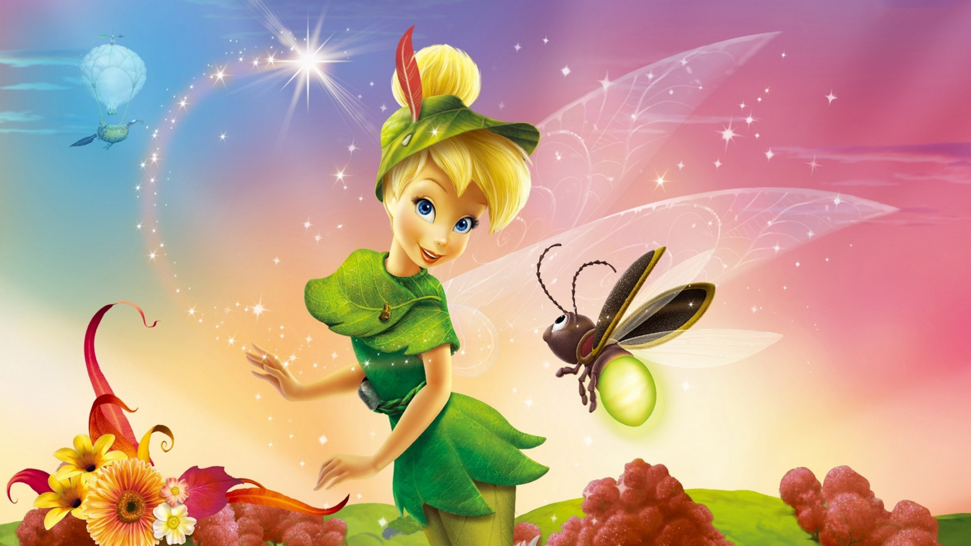 Res: 3840x2160, Tinkerbell and a bee - Disney Princess  Download