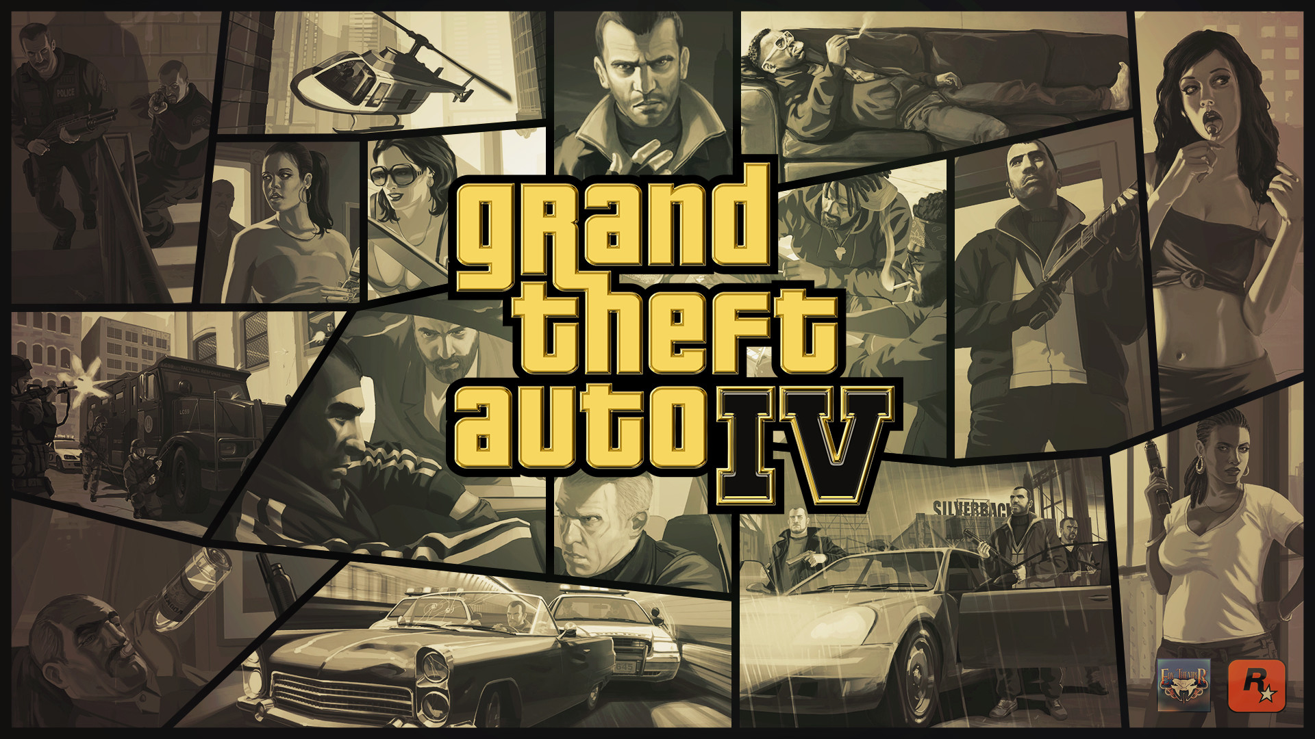 Res: 1920x1080, ... Grand Theft Auto IV Gold Logo Wallpaper by eduard2009