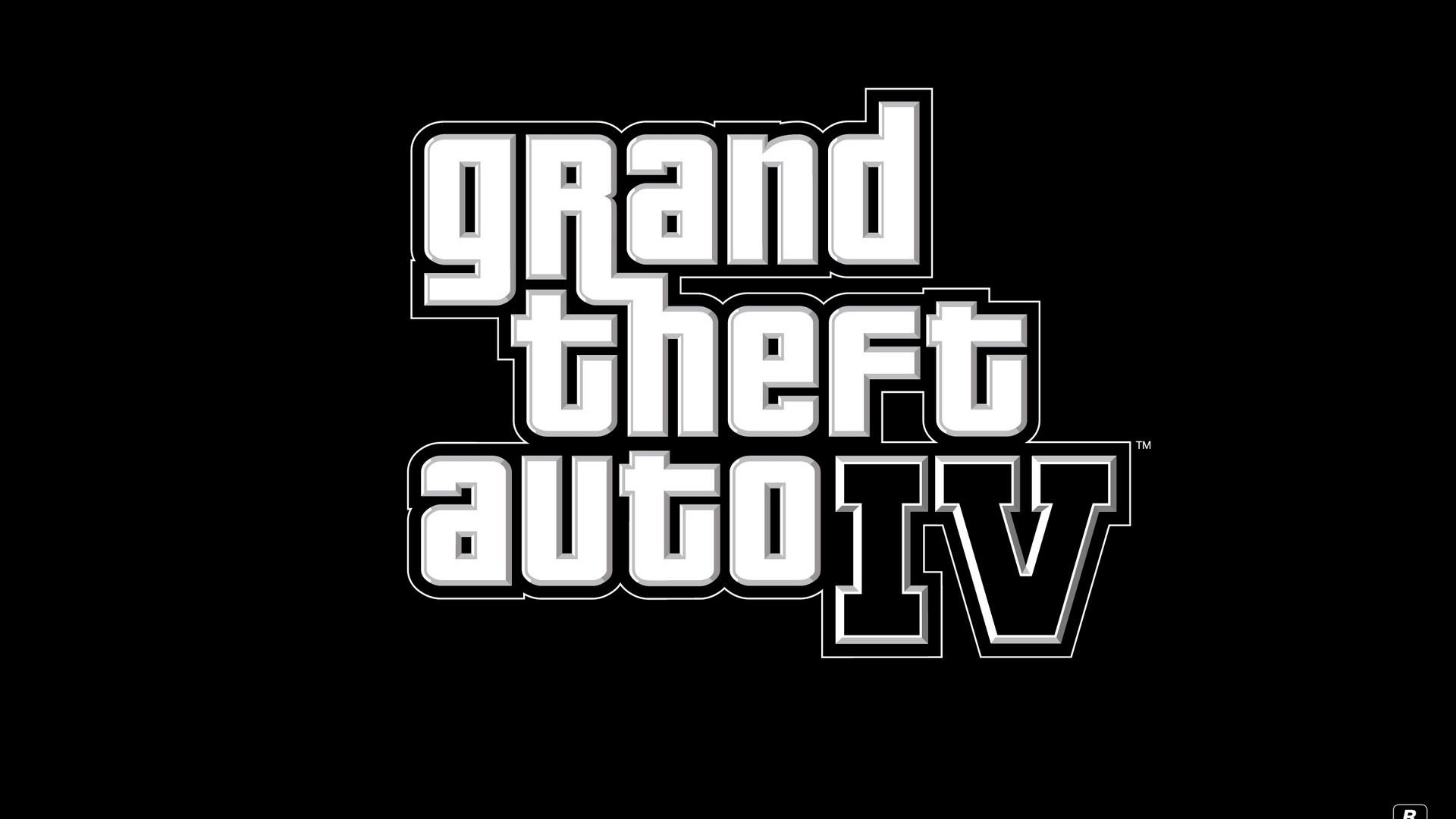 Res: 1920x1080,  Wallpaper gta 4, grand theft auto 4, logo