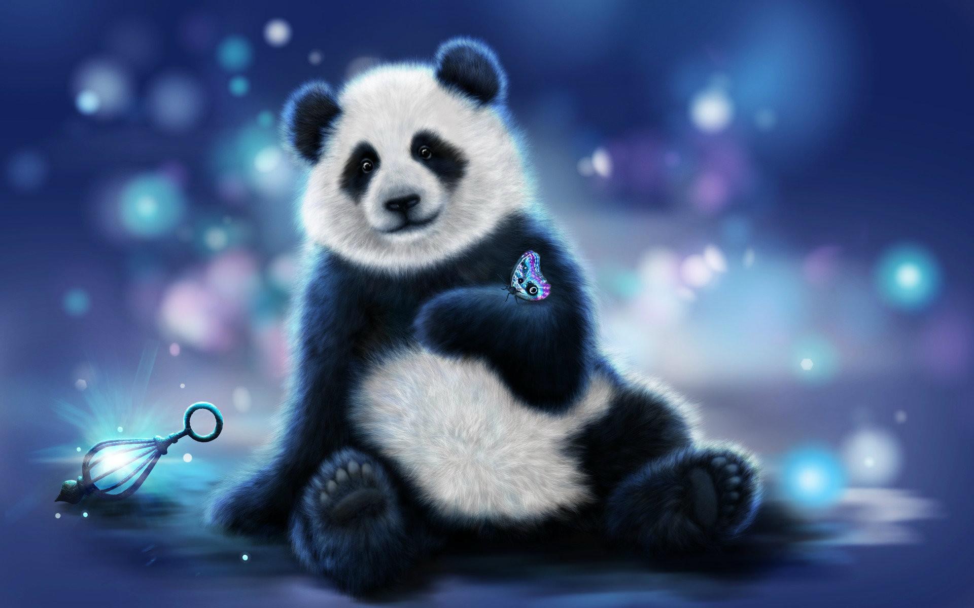 Res: 1920x1200, 3D & abstract Panda image Wallpaper